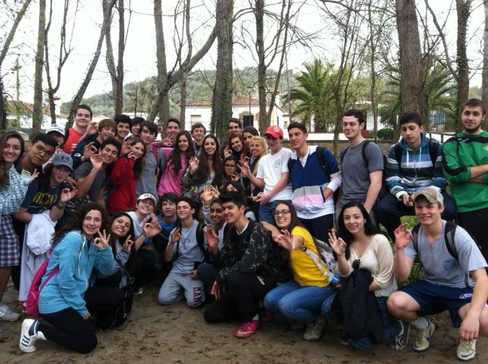 Upper School students hiking the North Sierra of the Province of Seville with their Spanish hosts during spring break 2014.